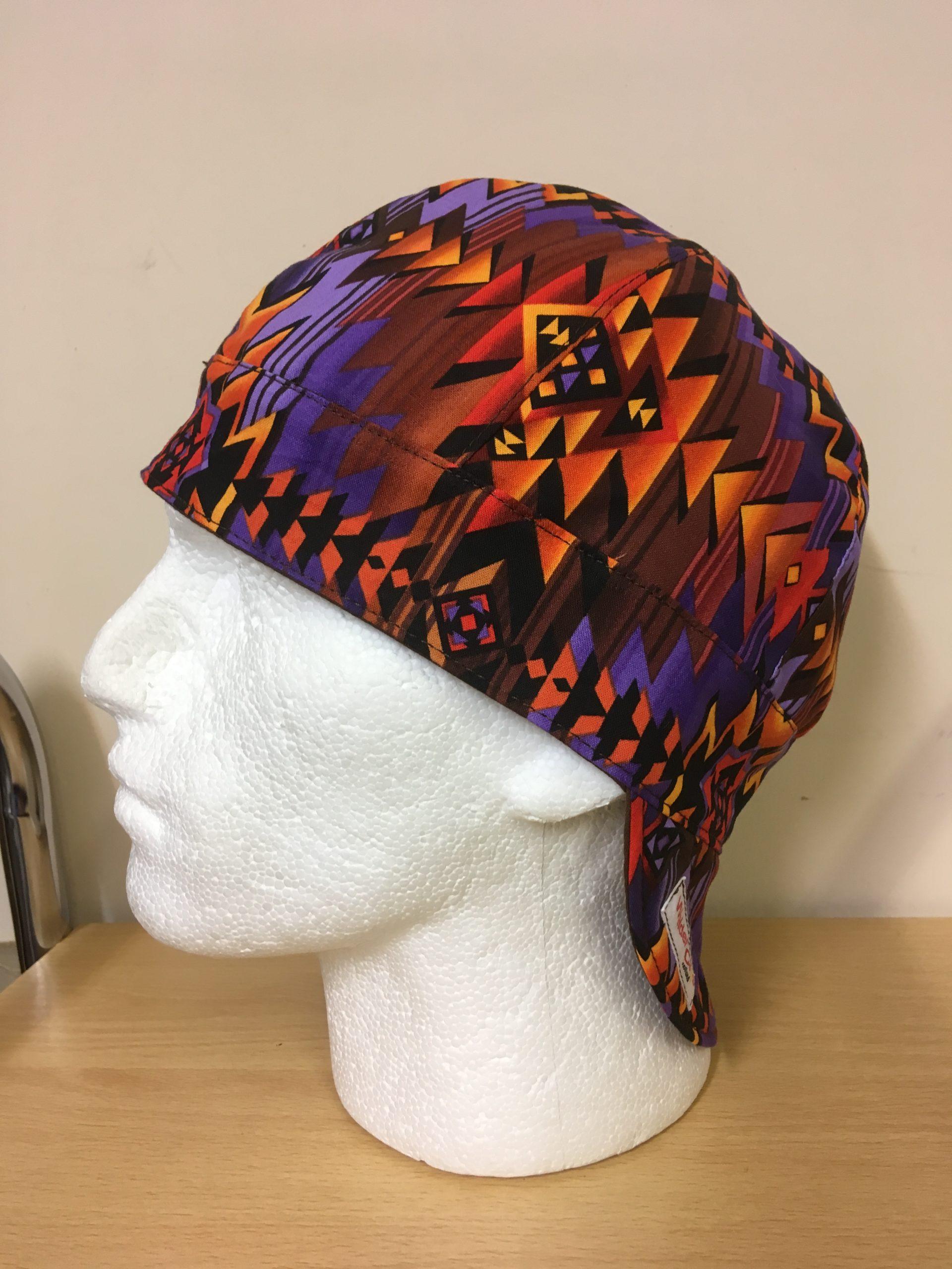 Purple/Brown/Orange Aztec